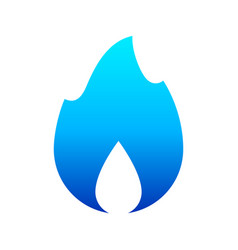 Fire flames new blue icon for you vector