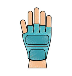 fitness glove accesory vector image