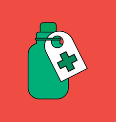 Flat icon design collection medicines bank vector