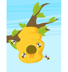 flat of beehive vector image