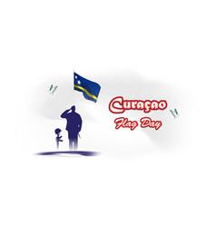 For curacao flag day vector
