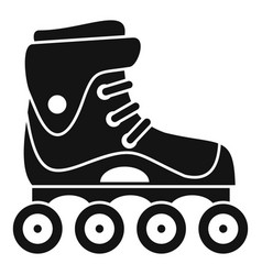 Freestyle inline skates icon simple style vector