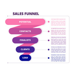 funnel sales marketing business symbols leads vector image