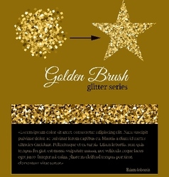 Golden glitter brush for any pattern fills vector