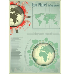 Infographics planet earth and construction vector
