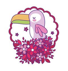 Isolated toucan cartoon design vector