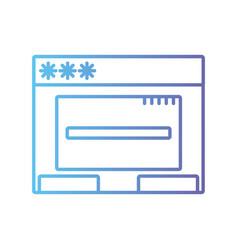 Line window web technology element design vector