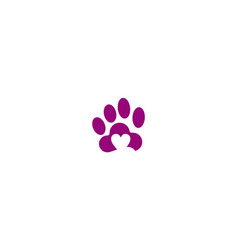 Love pet dog logo vector