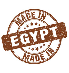 made in egypt brown grunge round stamp vector image
