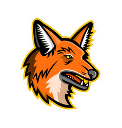 Maned wolf mascot vector