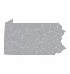 Map pennsylvania vector
