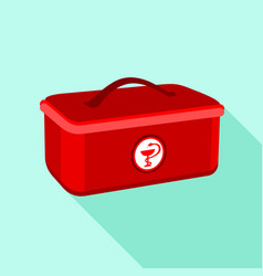 medical box icon flat style vector image