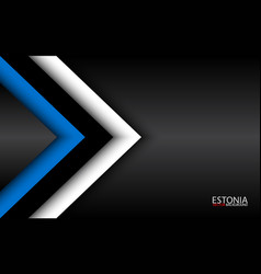 Modern overlayed arrows with estonian colors and vector
