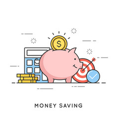 money saving deposit investment budget vector image