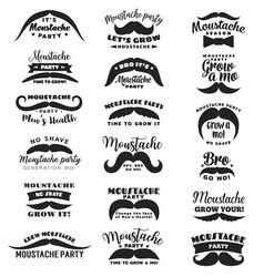 movember mustache party mens health icons vector image