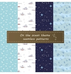 On the ocean seamless pattern vector