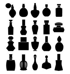 parfume set parfume bottles vector image