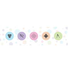 Patch icons vector