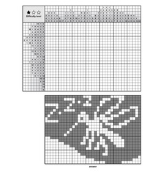 Picture logic puzzles japanese crossword vector image