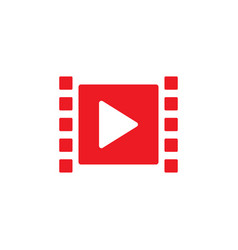 play video graphic icon design template vector image
