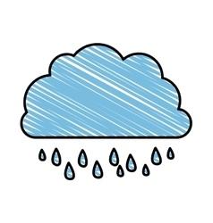 Rain and cloud icon image vector