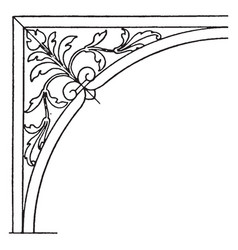 Renaissance spanrail panel is a plinth or base of vector