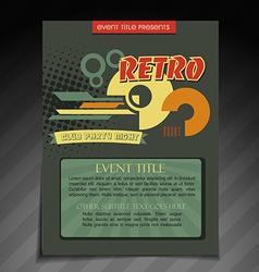 Retro brochure design vector