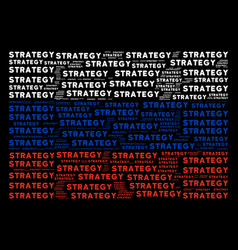Russian flag collage of strategy text items vector