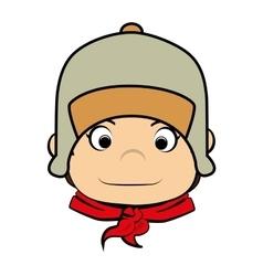 Scout boy cartoon icon vector image