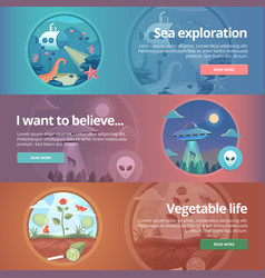 Sea exploration science life natural science vector