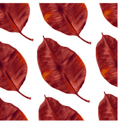 seamless watercolor autumn leaves pattern vector image