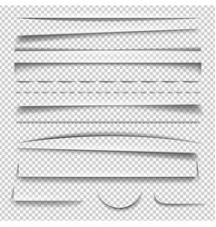Shadow effect set vector