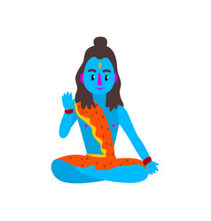 shiva indian god supreme god in shaivism vector image