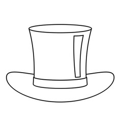 Silk hat icon outline style vector