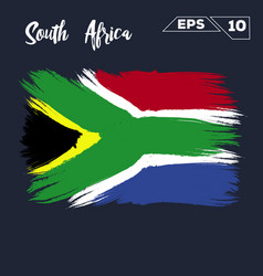 South africa flag brush strokes painted vector