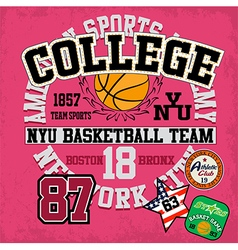Sport college training typography t-shirt graphics vector