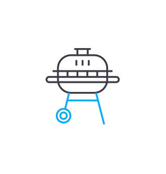 steak grill linear icon concept steak grill line vector image