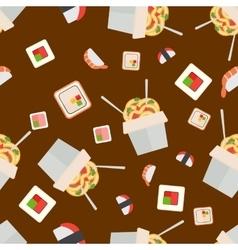 Sushi food seamless pattern vector image