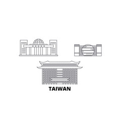 Taiwan new taipei city line travel skyline set vector