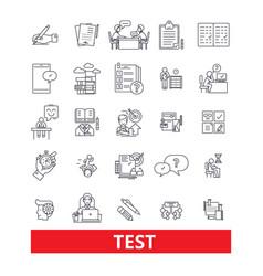 Test examexamination quiz assessment vector