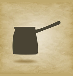 Turk for coffee isolated vector