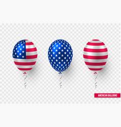 usa glossy balloons design american flag vector image
