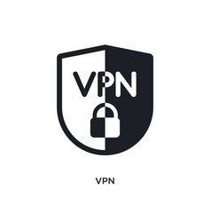 Vpn isolated icon simple element from technology vector