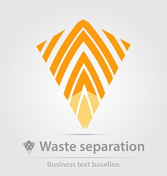 Waste separation business icon vector image