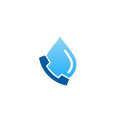 water call logo icon design vector image