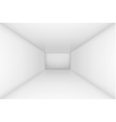 White simple empty room interior for design vector