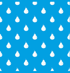 whole pear pattern seamless blue vector image