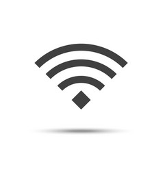 wifi icon wireless network symbol isolated on vector image