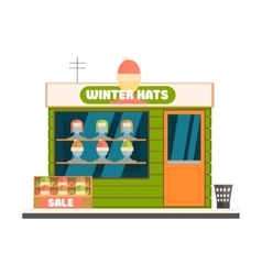 Winter Hats Store Front vector