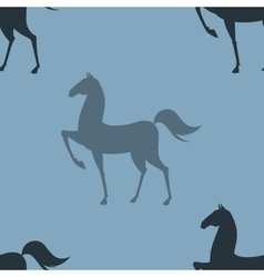 Colorful Pattern with Horse vector image vector image